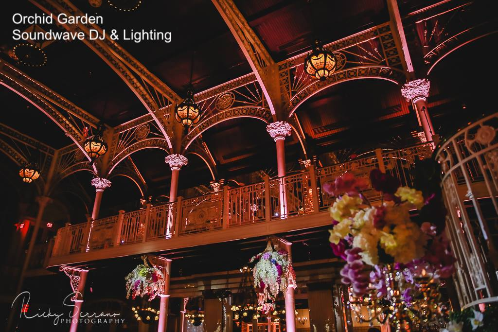 orchid garden church street - orlando wedding venue - orlando wedding lighting - orlando wedding dj - soundwave entertainment