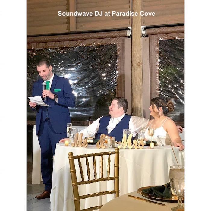 paradise cove - orlando wedding venue - orlando wedding dj - soundwave entertainment - orlando, fl