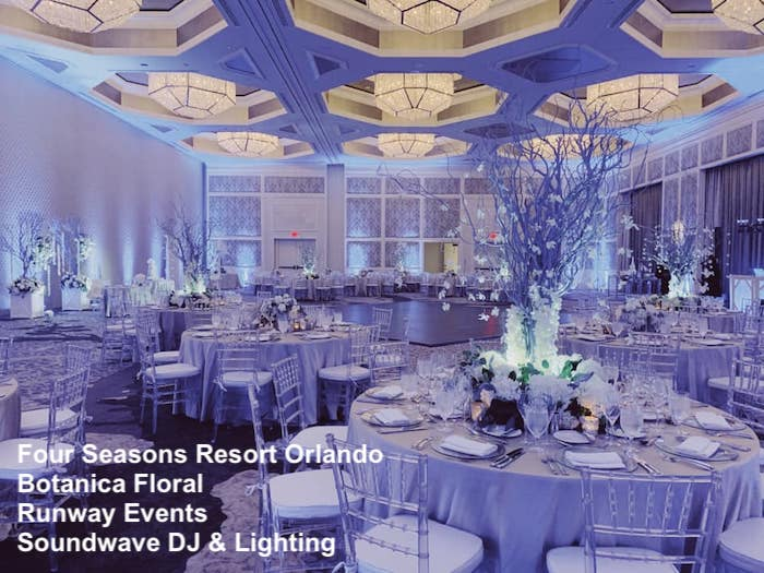 four seasons resort orlando - orlando wedding - orlando wedding dj - orlando wedding lighting - sounwdwave entertainment