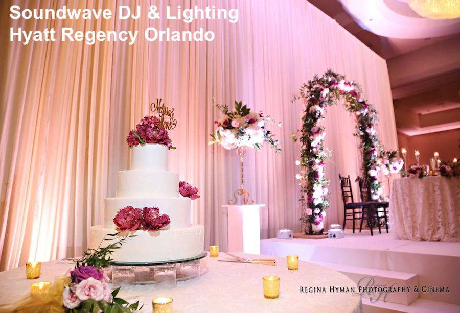 hyatt regency orlando - orlando wedding venue - orlando wedding dj - soundwave entertainment