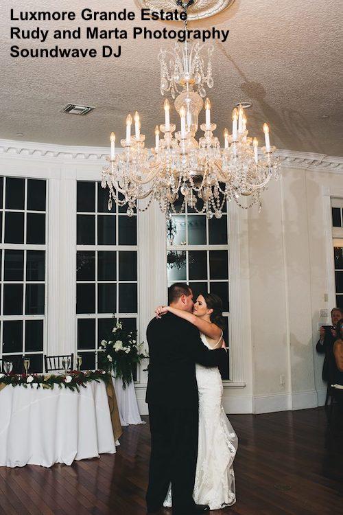 luxmore grande estate - orlando wedding venue - orlando wedding dj - soundwave entertainment