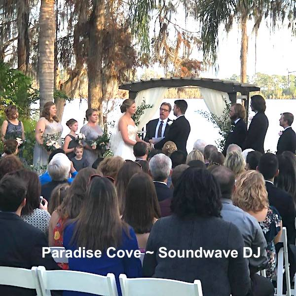 paradise cove - orlando wedding venue - orlando wedding dj - soundwave