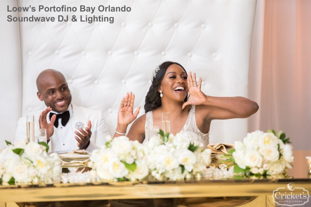 loews portofino orlando - orlando dj - orlando djs - orlando wedding djs - orlando latin dj - orlando wedding venue - soundwave entertainment