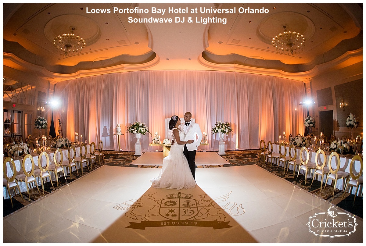 loews portofino bay hotel - orlando wedding venue - orlando dj - soundwave entertainment