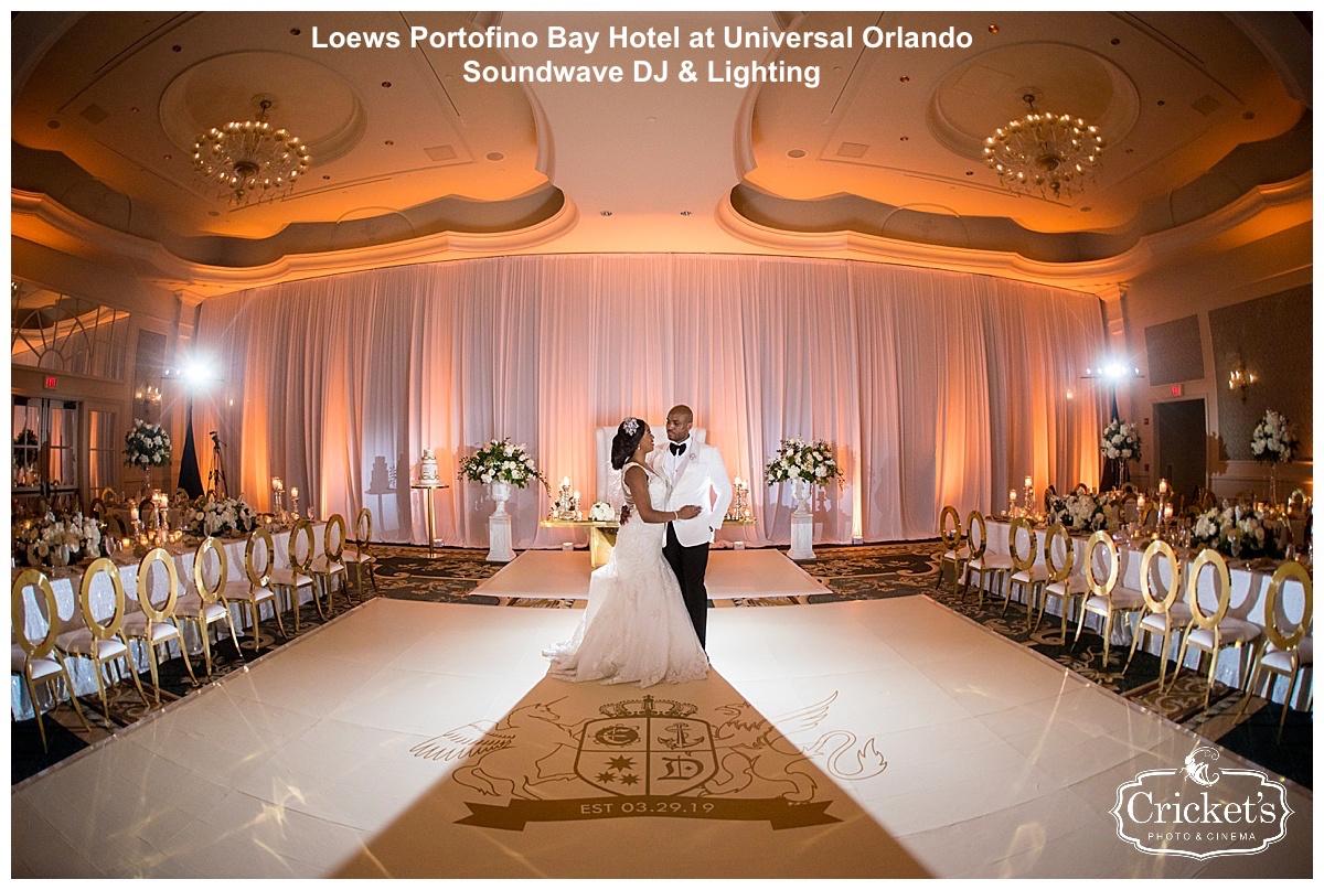 loews portofino bay hotel - orlando wedding venue - orlando dj - soundwave entertainment
