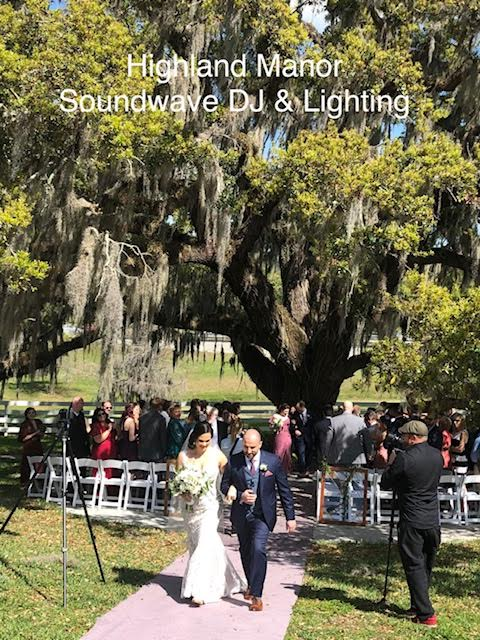 highland manor - orlando wedding venue - orlando wedding dj - soundwave entertainment