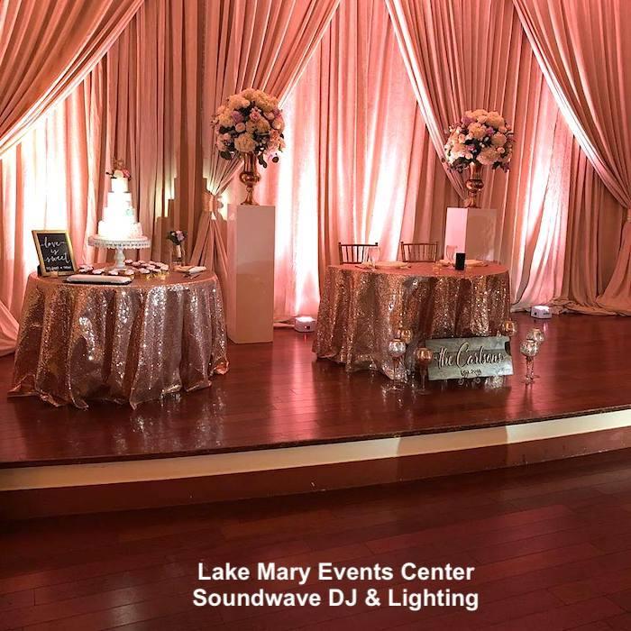 lake mary events center - orlando wedding venue - orlando wedding dj - soundwave entertainment