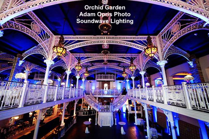 orchid garden - orchid garden church street - orlando wedding - orlando wedding lighting - soundwave entertainment