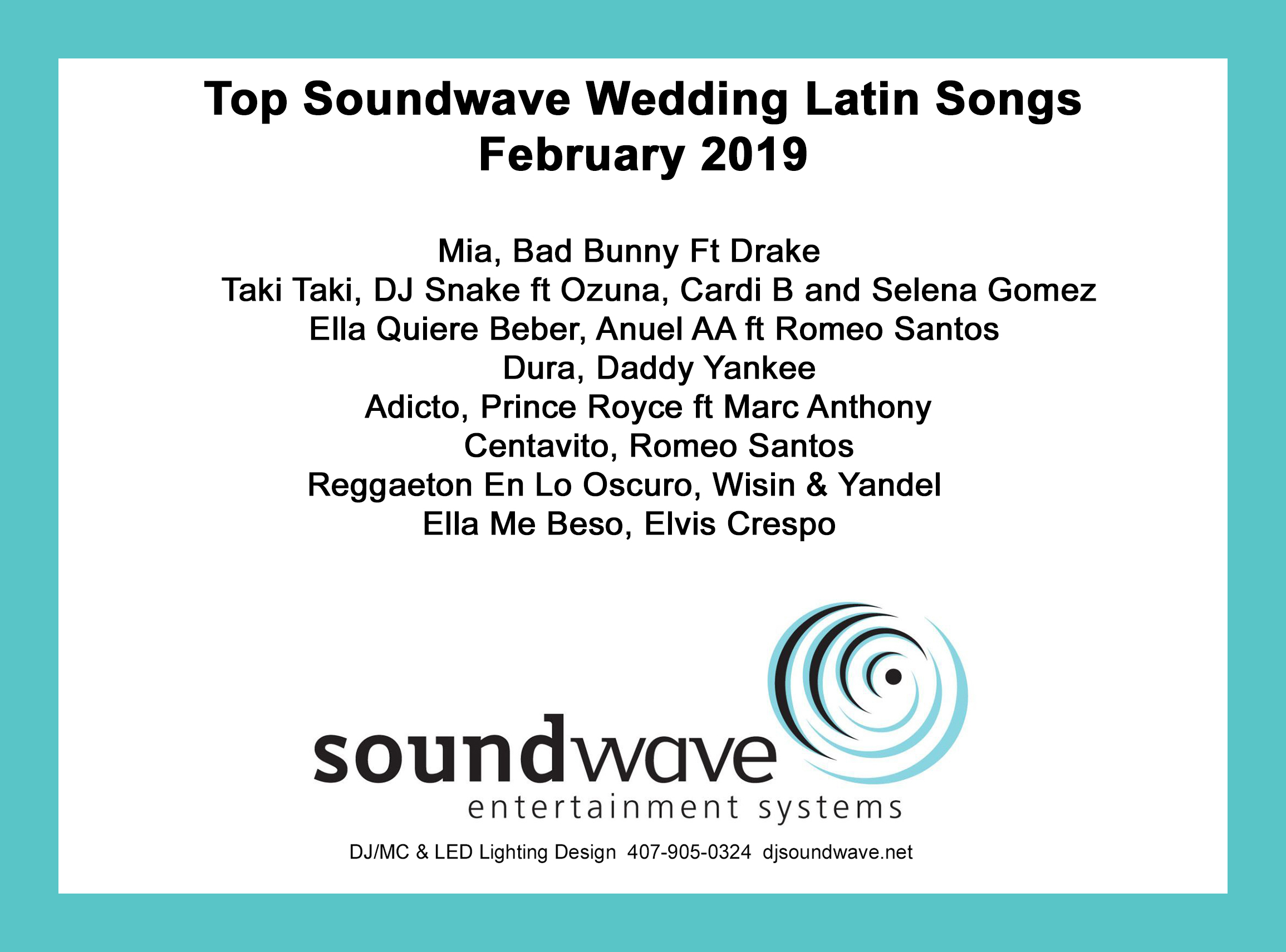 latin wedding songs - latin songs - orlando latin dj - soundwave entertainement