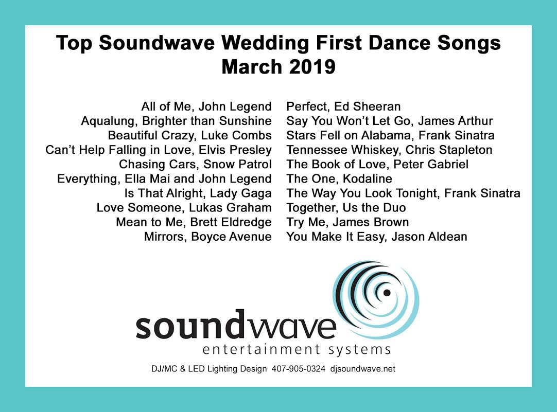 soundwave entertainment - orlando dj - orlando djs - wedding songs - first dance