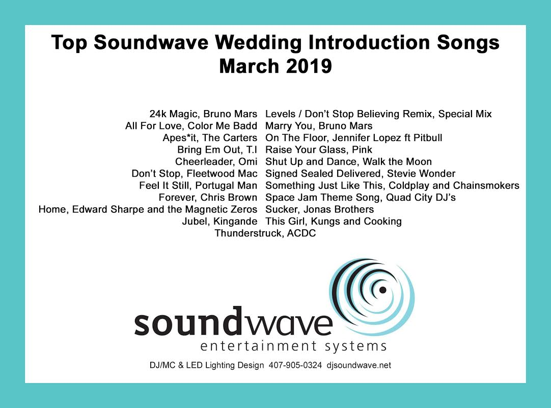 wedding songs - orlando dj - orlando djs - soundwave entertainment