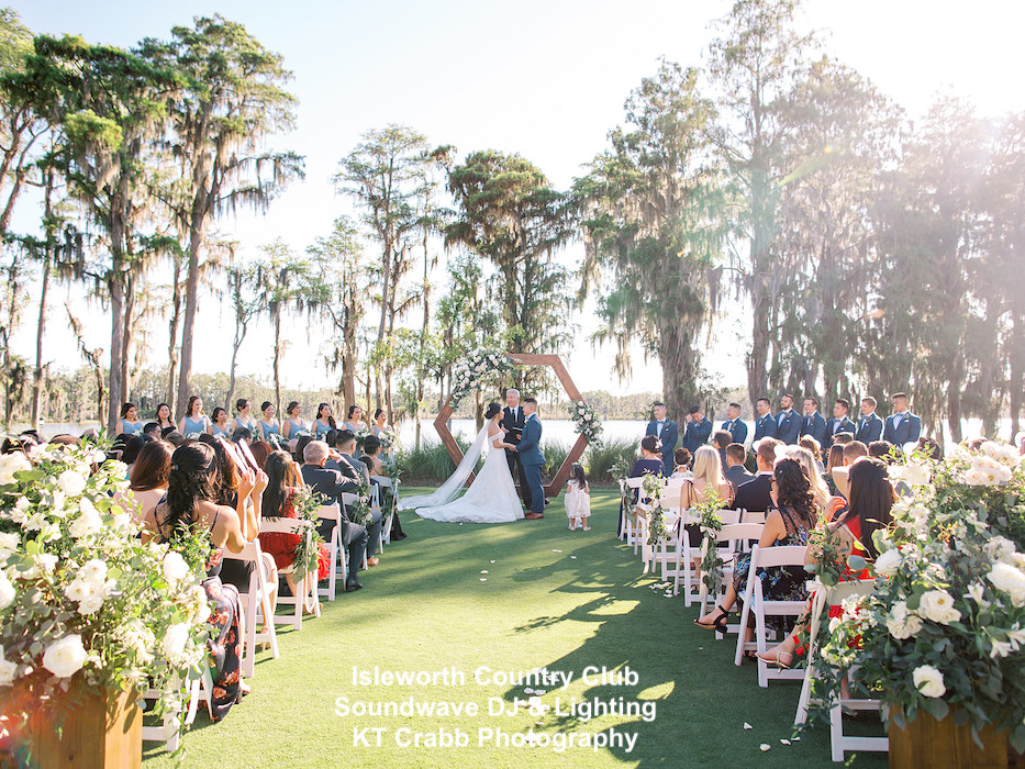 isleworth country club, orlando wedding venue - orlando wedding dj - orlando dj - orlando djs - soundwave entertainment - soundwave dj - orlando wedding lighting