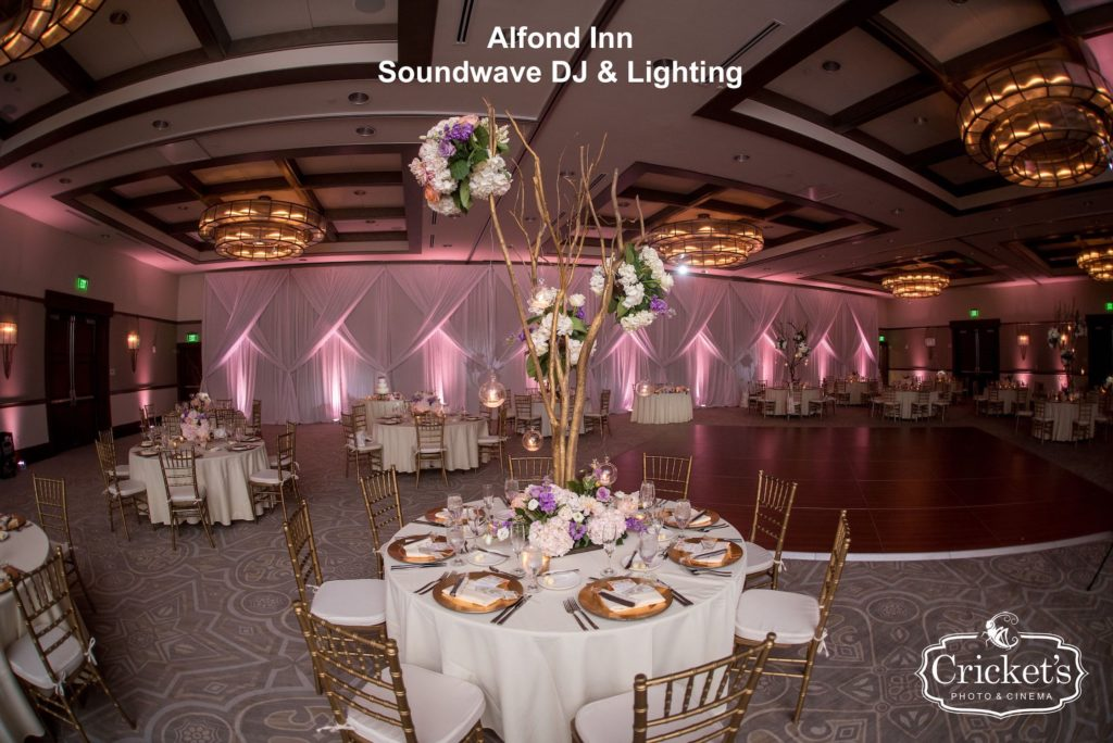 alfond inn - orlando wedding venue - orlando wedding lighting - orlando dj - orlando djs - soundwave dj - soundwave entertainment