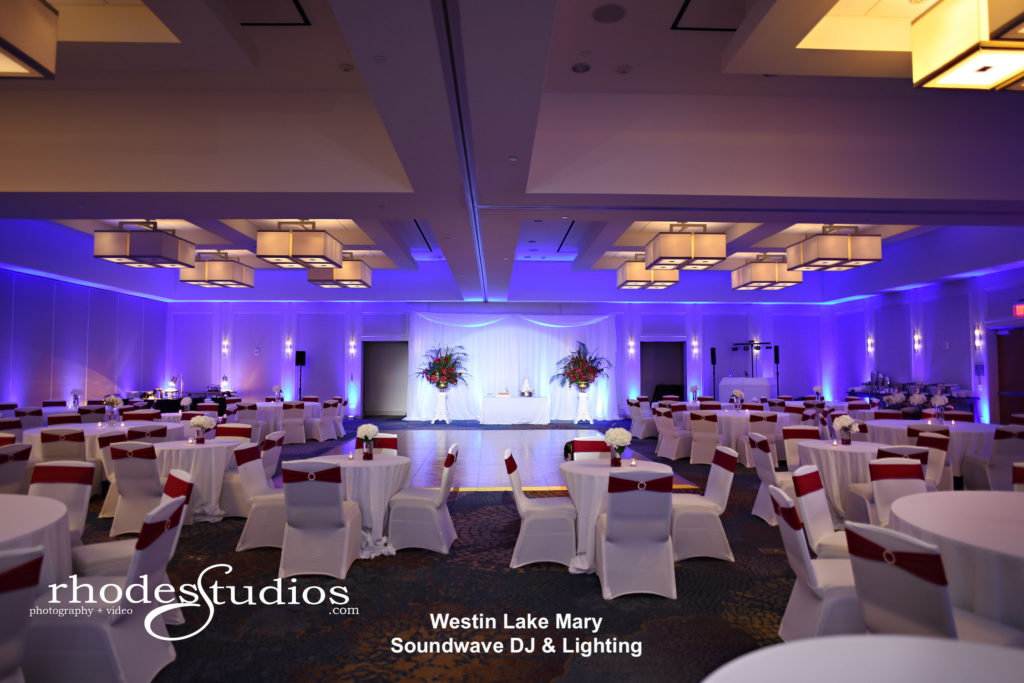 Westin lake mary, orlando wedding venue - orlando wedding dj - orlando dj - orlando djs - soundwave entertainment - soundwave dj - orlando wedding lighting