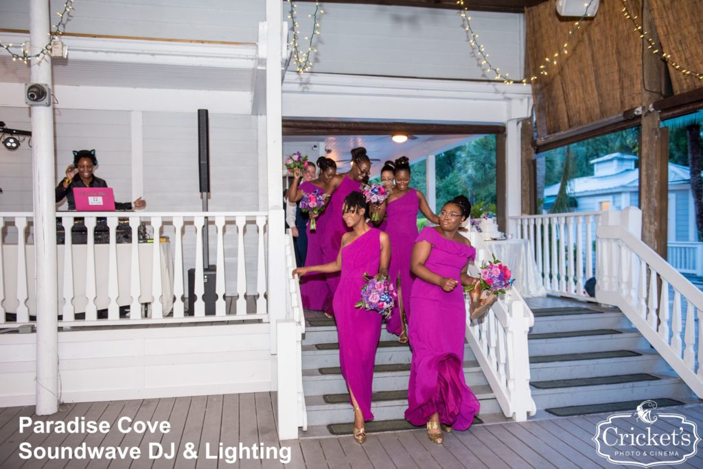 paradise cove - orlando wedding venue - orlando wedding dj - orlando dj - soundwave entertainment - soundwave dj - dj lady shay