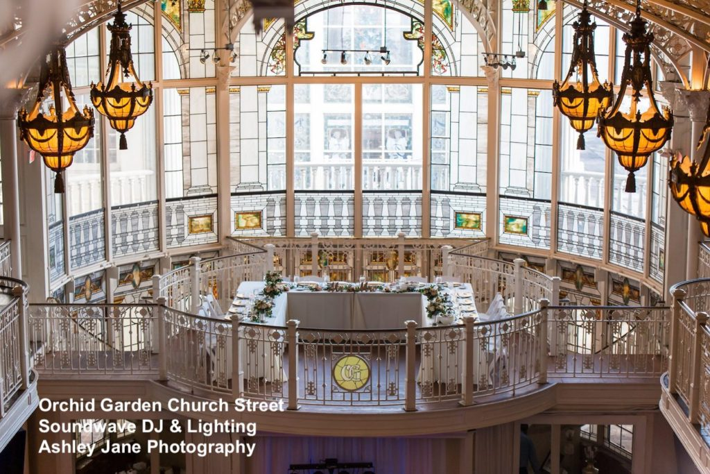 Orchid Garden Church Street - orlando wedding venue - orlando wedding dj - orlando dj - soundwave entertainment - soundwave dj - orlando wedding lighting