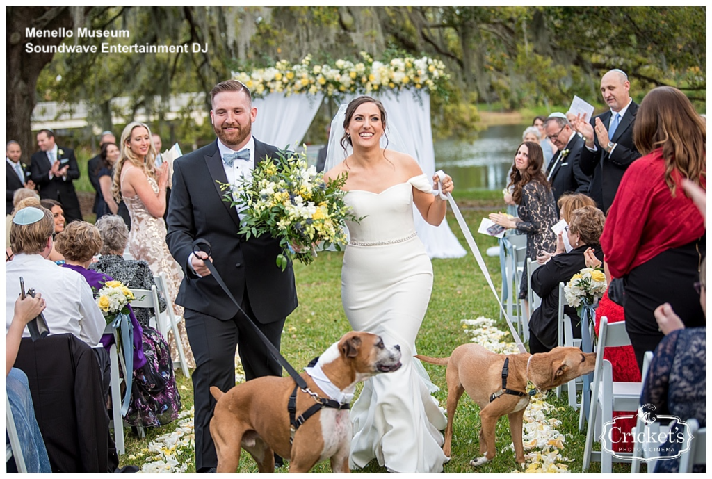 fur baby wedding - dog at wedding - orlando wedding dj - orlando wedding ceremony - soundwave entertainment - soundwave dj