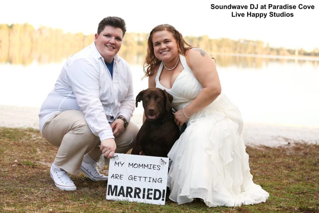 fur baby wedding - dog at wedding - orlando wedding dj - orlando wedding ceremony - bride and bride - same sex wedding