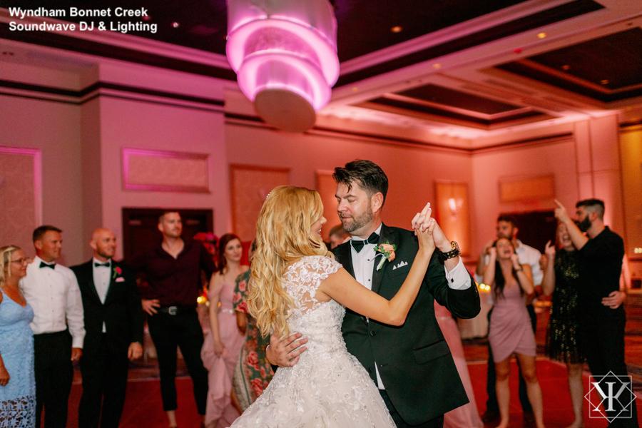 Wyndham Bonnet Creek - orlando wedding venue - orlando wedding dj - orlando dj - soundwave entertainment - soundwave dj - orlando wedding lighting - orlando dj company