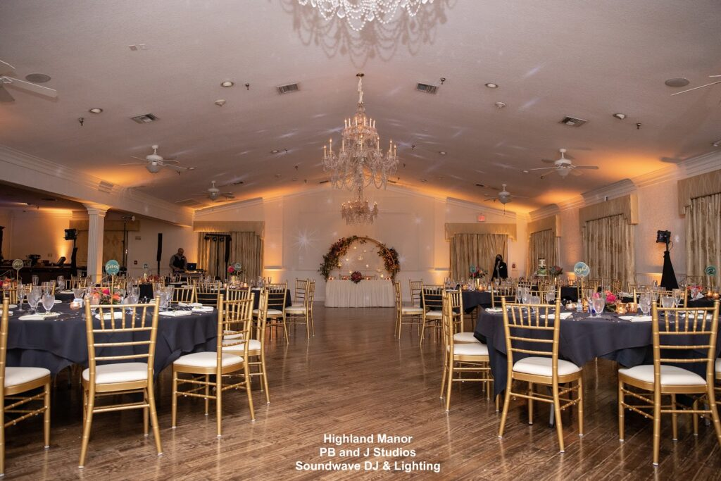 Highland Manor Wedding Reception