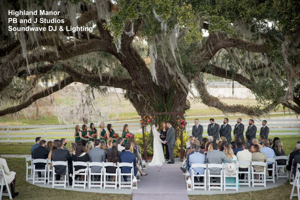 Highland Manor Wedding under Tree