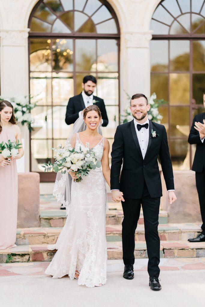 Howey Mansion Wedding DJ Soundwave Couple Aisle