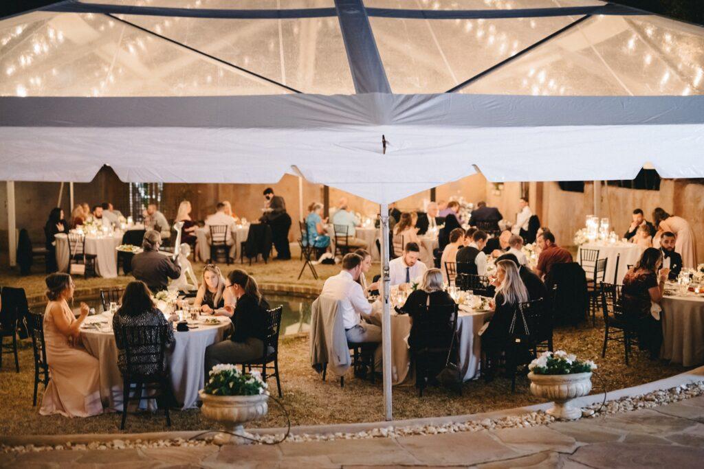 Howey Mansion Wedding DJ Soundwave Outdoor Dinner
