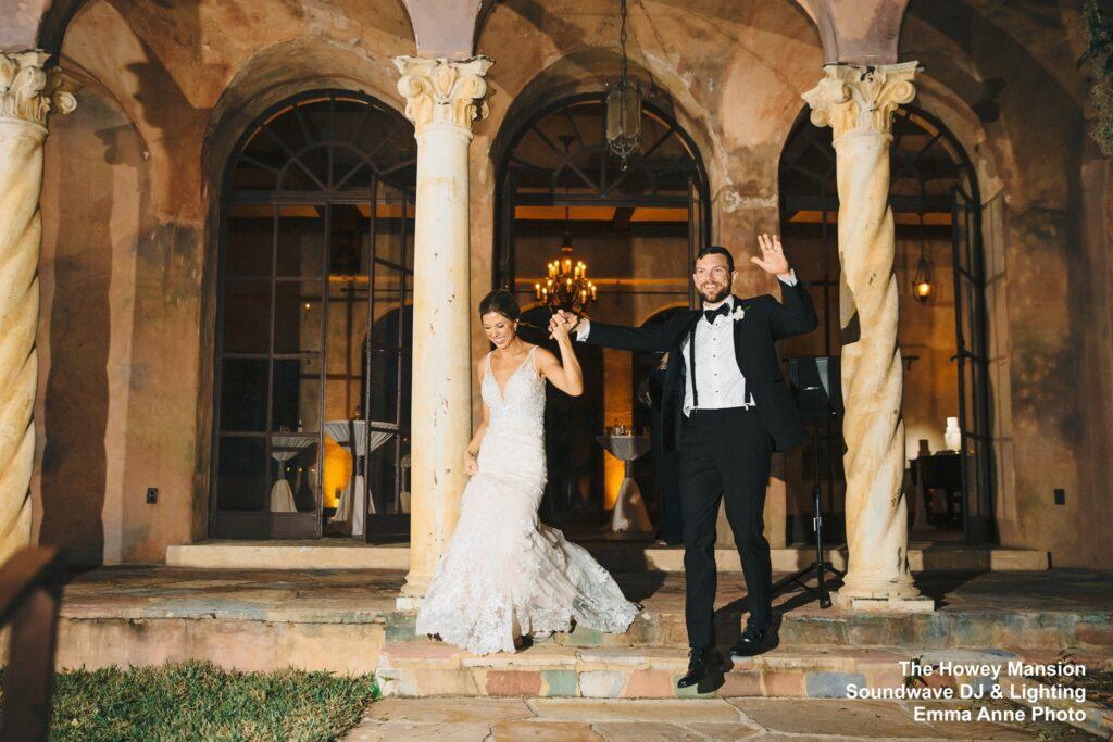 Howey Mansion Wedding DJ Soundwave Newlyweds