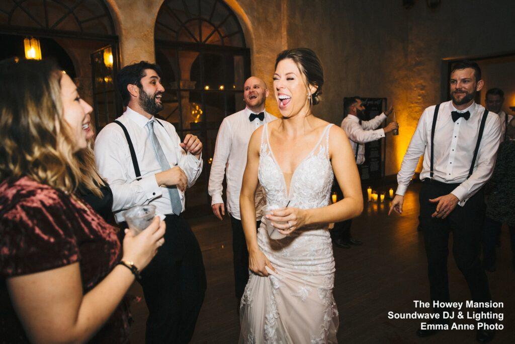 Howey Mansion Wedding DJ Soundwave Dancing Bride