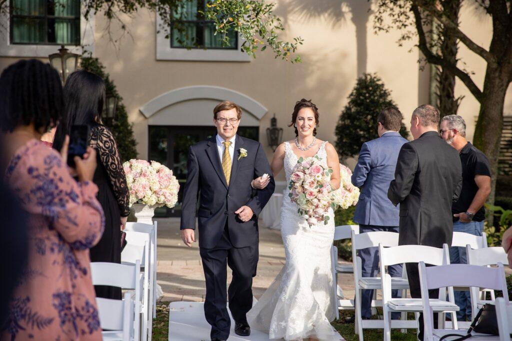 Omni Wedding Central Florida Soundwave Bride Aisle