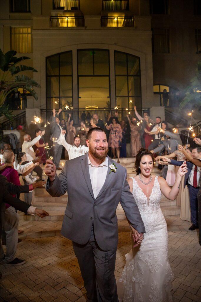 Omni Wedding Central Florida Soundwave Sparkler Send Off