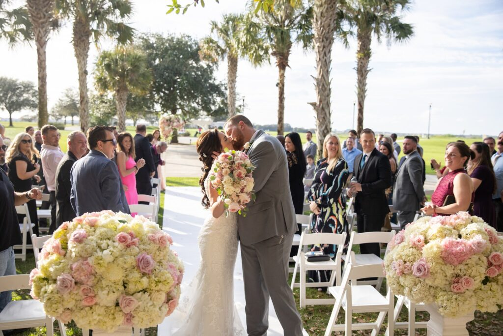 Omni Wedding Central Florida Soundwave Kiss