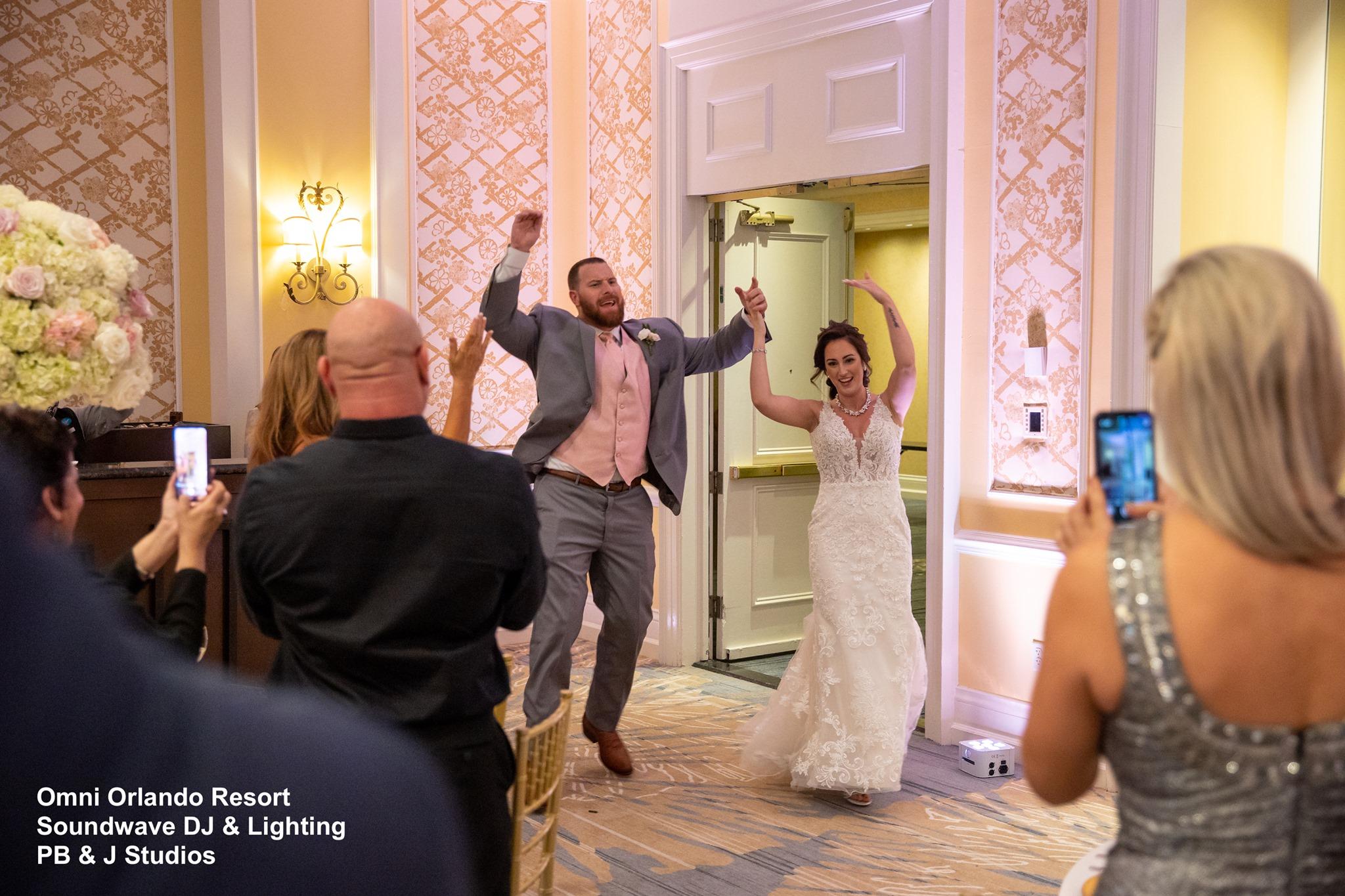 Omni Wedding Central Florida Soundwave Bride Groom