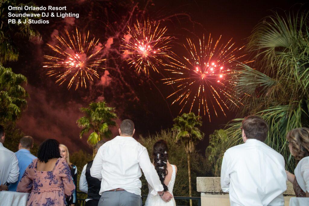 Omni Wedding Central Florida Soundwave Fireworks