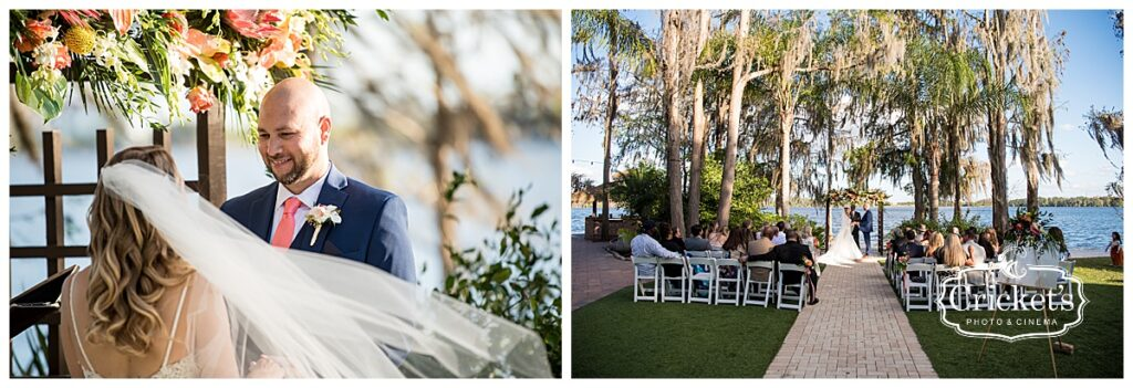 Paradise Cove Soundwave Wedding Orlando Bride and Groom