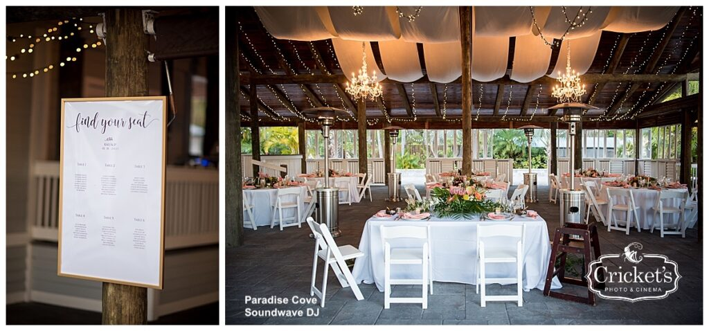 Paradise Cove Soundwave Wedding Orlando Reception