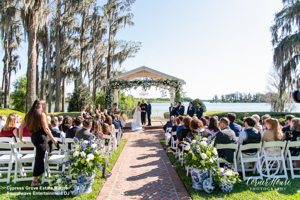 Soundwave DJ Orlando Wedding Central Florida Ceremony Outdoor