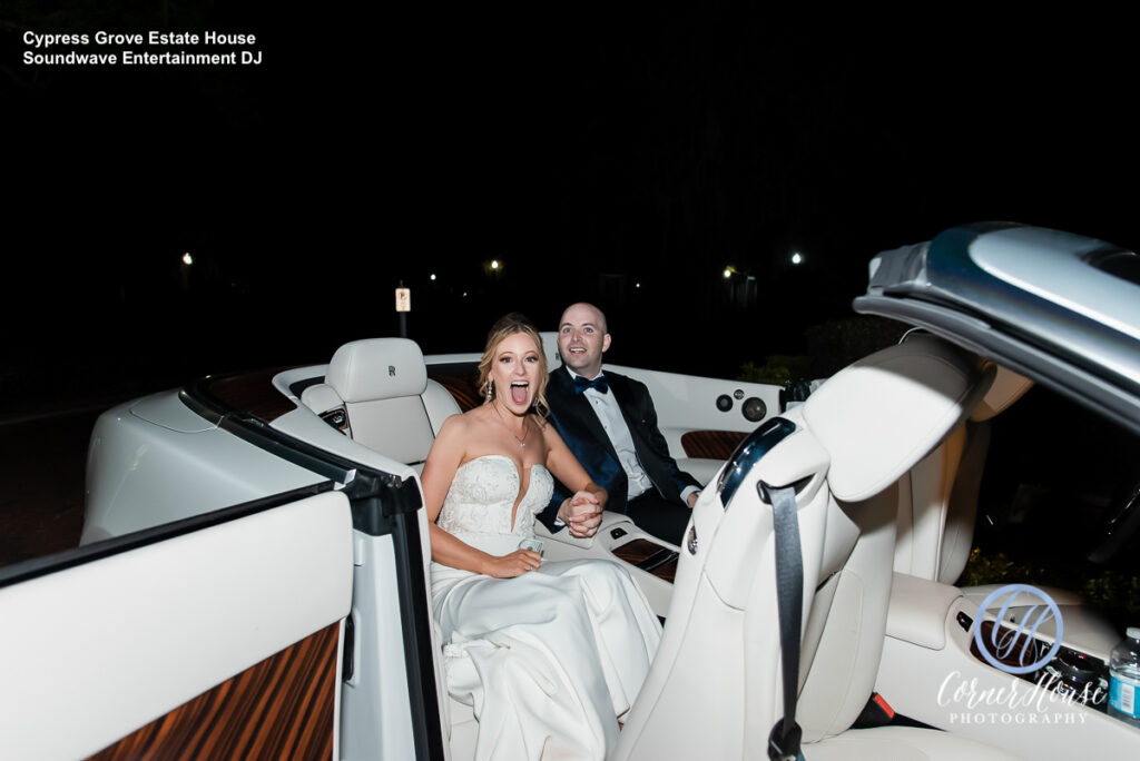 Soundwave DJ Orlando Wedding Central Florida Boat Exit