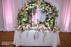 Soundwave Interlachen Country Club Central Florida Wedding Head Table