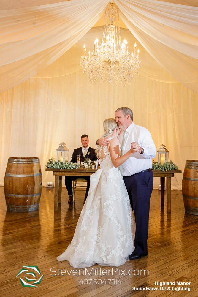 Father Daughter Highland Manor Wedding