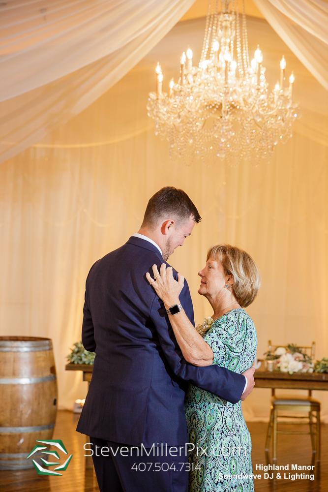 Mother Son Dance Highland Manor Wedding