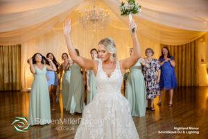 Bouquet Toss Highland Manor Wedding