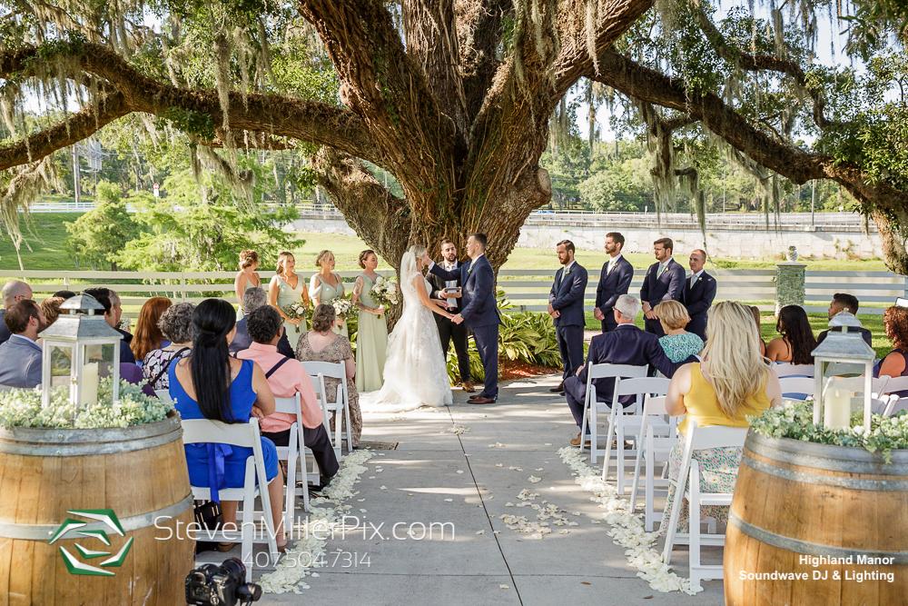 Outdoor Ceremony Highland Manor Wedding