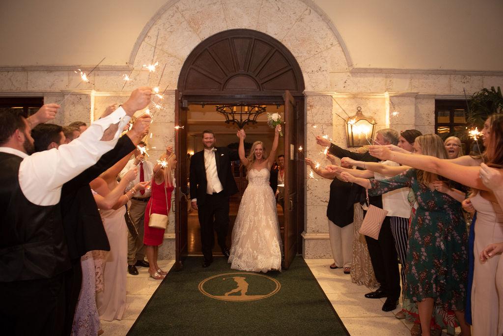 Sparkler Sendoff Interlachen Country Club Wedding