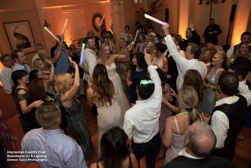Glow Sticks Interlachen Country Club Wedding