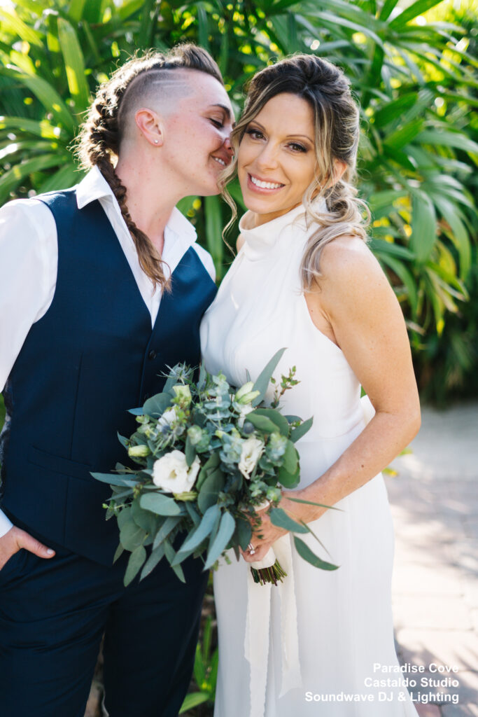 Fist look bride and bride