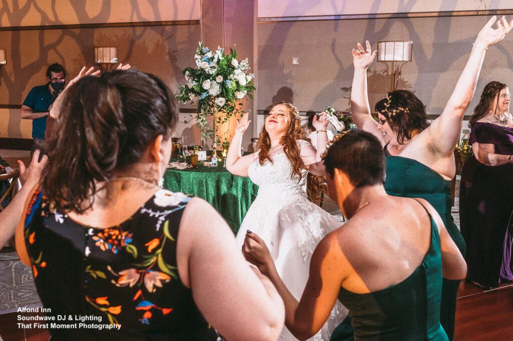 enchanted wedding at alfond inn soundwave dancing
