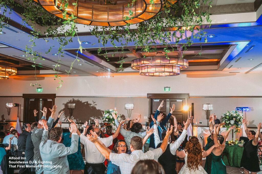 enchanted wedding at alfond inn soundwave dj