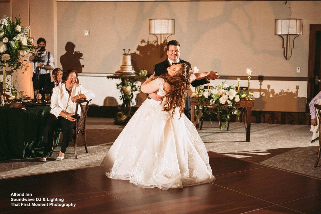 enchanted wedding at alfond inn soundwave first dance