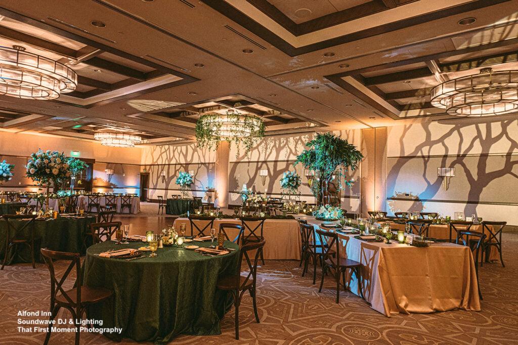 enchanted wedding at alfond inn soundwave lighting design